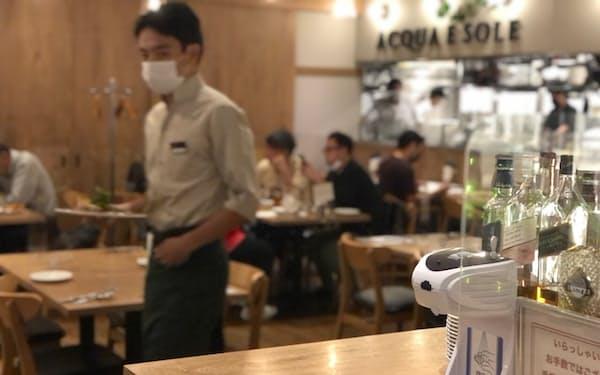 感染対策は「認証店」の水準を保ち営業するイタリア料理店「アクア・エ・ソーレ」(千葉市)