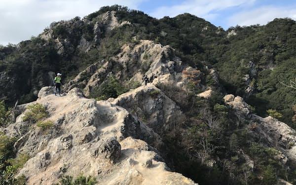神戸市は好日山荘、神戸電鉄と連携して登山道の修繕などに取り組む(神戸市の須磨アルプス近辺)