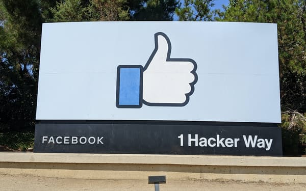 米フェイスブックでは4日に大規模なシステム障害が発生したばかりだった(カリフォルニア州メンロパーク市の本社)