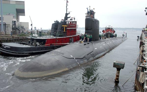 米海軍のエンジニアが機密情報を流出しようとしたバージニア級原子力潜水艦=AP