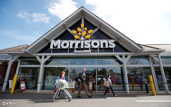 英スーパー4位のモリソンズには複数の投資ファンドが買収提案を出した=ロイター