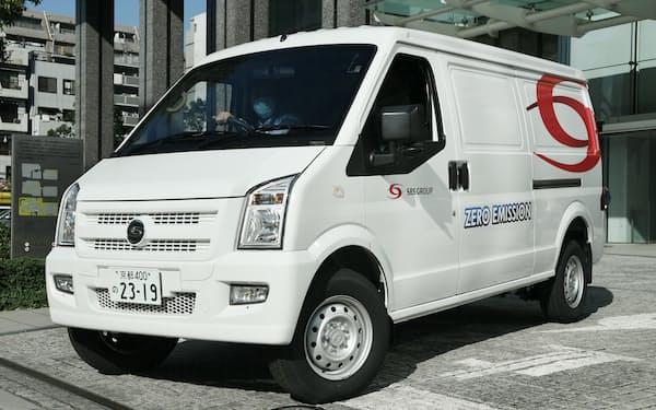 SBSHDに供給されたEVトラック(東京都墨田区)