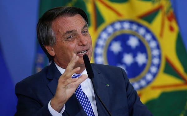 ブラジルのボルソナロ大統領=ロイター