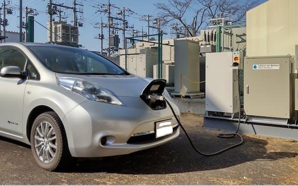 EVからの給電システムの設置例