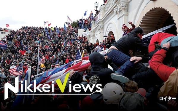 選挙に不正があったとするトランプ米大統領(当時)の執拗なデマが、支持者による連邦議会議事堂襲撃事件につながった(1月、ワシントン)