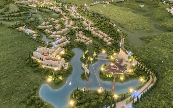 3000㌶の土地を擁するインドネシアのリド経済特区のミニチュア