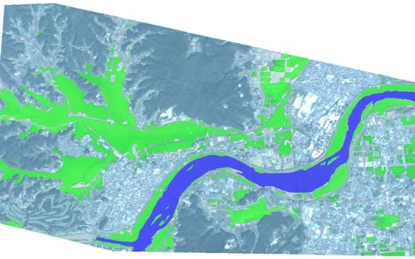 衛星画像を解析して被害状況を把握する(©スカパーJSAT/Planet Labs Inc.)