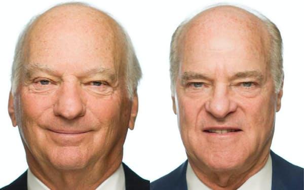 KKR共同創業者のロバーツ氏(左)とクラビス氏