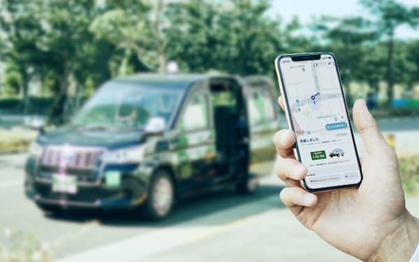 タクシー配車アプリ「GO」は利用を伸ばす