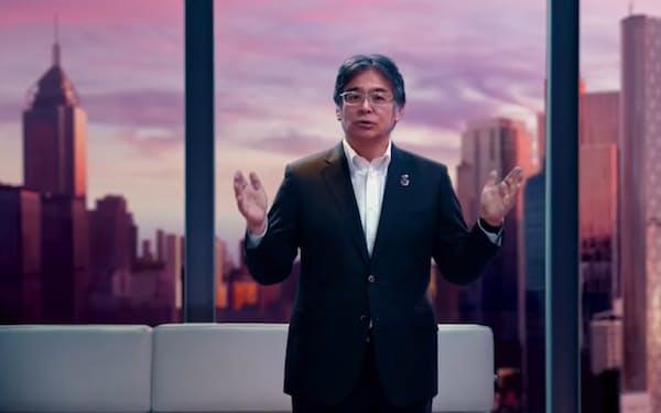 オンラインイベントに登壇する富士通の時田隆仁社長