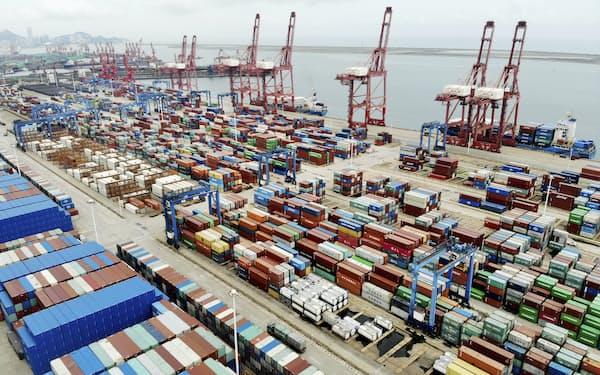 9月の輸出は市場予測を上回った(江蘇省)=共同