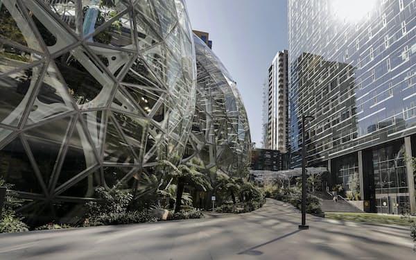 米西部ワシントン州シアトルにあるアマゾンの本社=AP