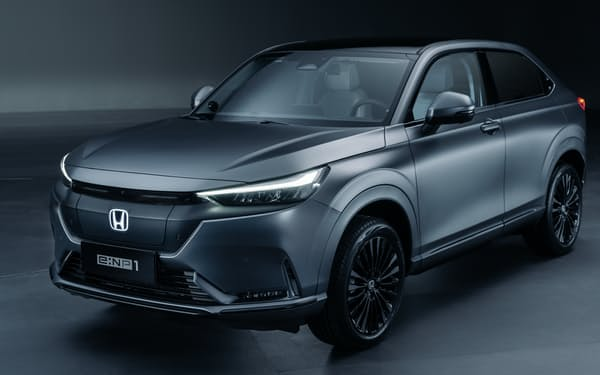 ホンダが2022年春に中国で発売する電気自動車(EV)のイメージ。同社ブランドとしては初の中国でのEVとなる
