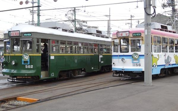広島電鉄が神戸市電から引き継いだ2両