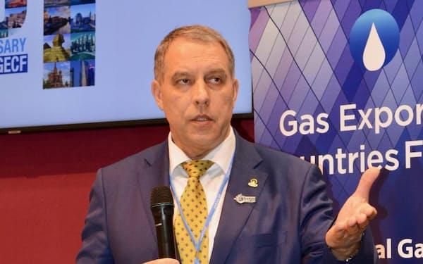 ガス輸出国フォーラムのユーリ・センチュリン事務局長(GECF事務局提供)