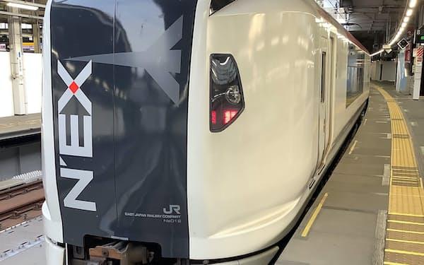 成田エクスプレスE259系6両編成車両をワークスペースとして貸し出す