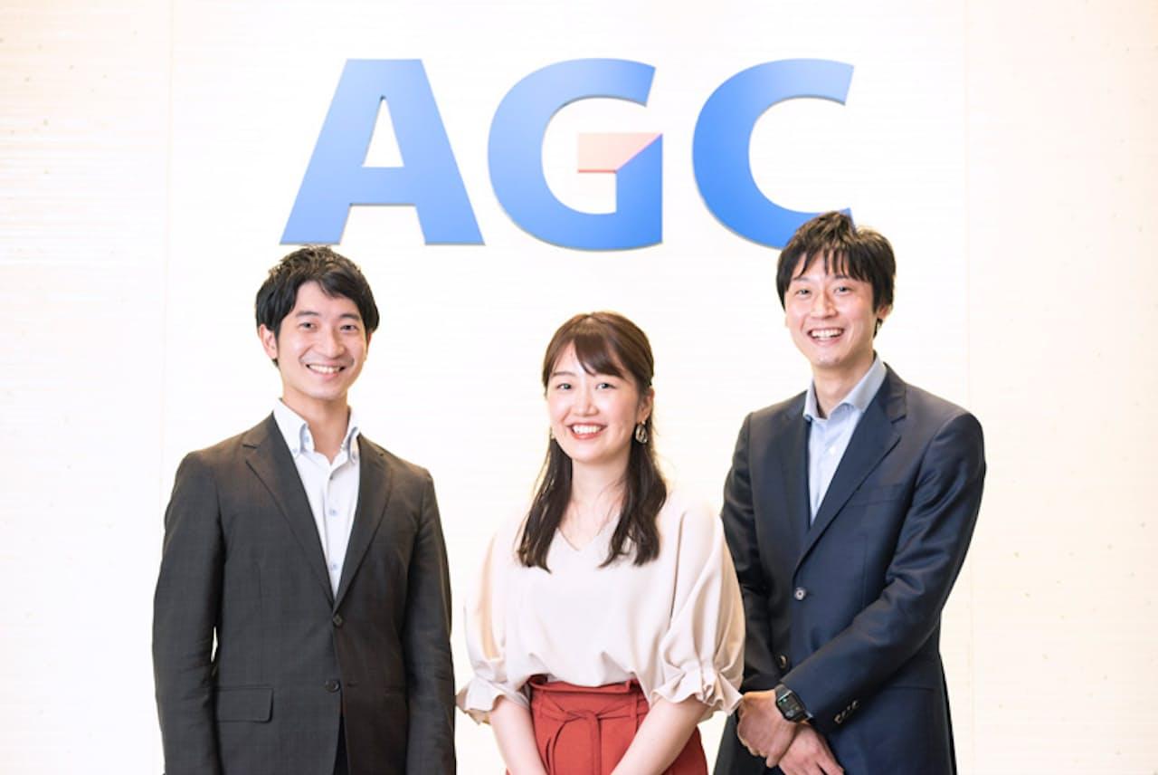 AGCの有志団体「AGseed」のメンバー。左から、北野さん、青木さん、冨依さん