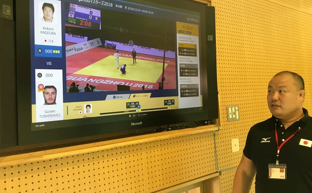石井孝法氏ら全日本柔道連盟科学研究部のメンバーは綿密な試合分析で日本代表を支えた(東京都北区の味の素ナショナルトレーニングセンター)