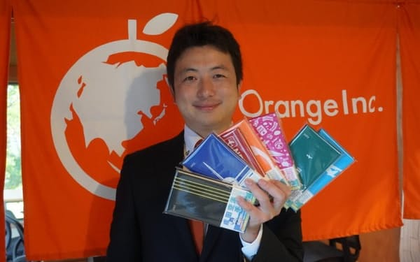成田空港手帳を手掛けるOrange社長の甲斐孝太郎さん