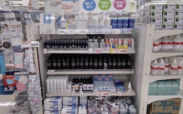 コロナ対策の消毒液などは前年の反動で、販売が伸びなかった