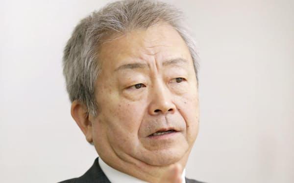 インタビューに応じるNTTの澤田純社長