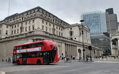 英イングランド銀行は11月4日に最新の金融政策を発表する(ロンドン)