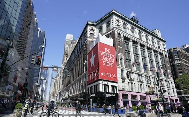 百貨店大手メーシーズの株価は、EC事業のスピンオフ期待から大幅高となった=AP