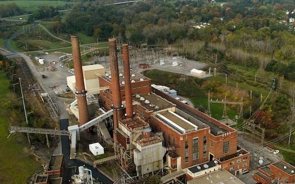 米国では石炭火力発電所の老朽化が進む=AP