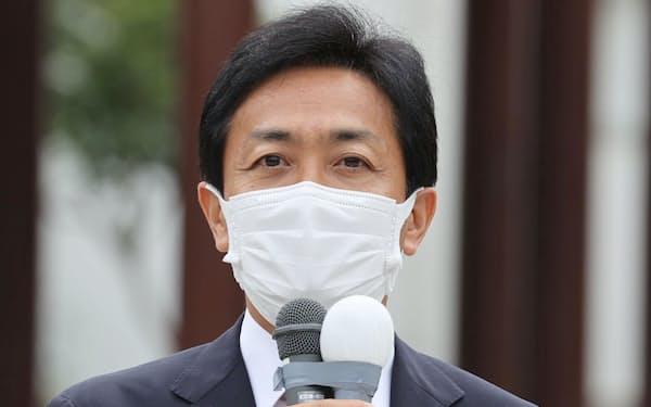衆院選が公示され、第一声を上げる国民民主党の玉木代表(19日午前、長崎市)