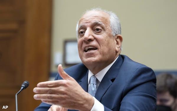 辞任したハリルザド氏はトランプ前政権からアフガン和平担当特別代表を務めた=AP