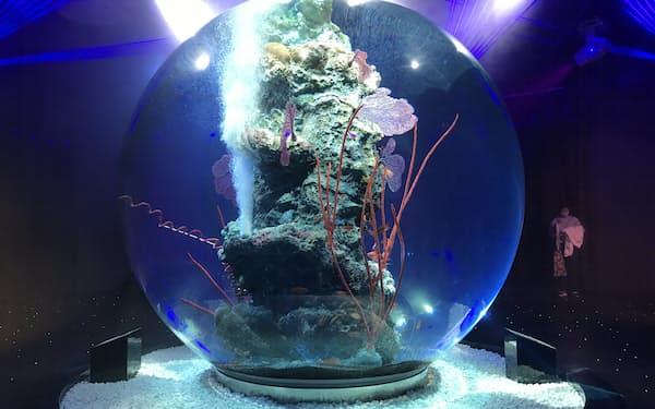 神戸市で開業する水族館「アトア」は芸術との融合をコンセプトにした(19日)