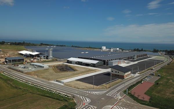 沿岸部に国内最大級の集成材工場を整備した(福島県浪江町)