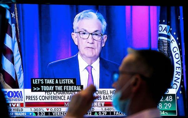 市場はFRBの利上げ前倒しを織り込むが…=ロイター