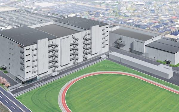 鹿児島国分工場に2棟新設し、半導体製造装置向けの部品を増産する(完成イメージ)