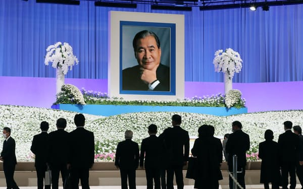 多数の人が参列した立石義雄氏の「お別れの会」(20日午前、京都市左京区)