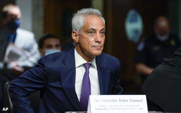 米国のエマニュエル次期駐日大使の承認には与党・民主党からも異論がある(20日、ワシントン)=AP