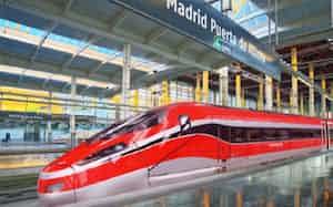 スペインの主要都市を結ぶ高速鉄道の車両点検・保守を受注した(写真は点検対象の車両のイメージ)