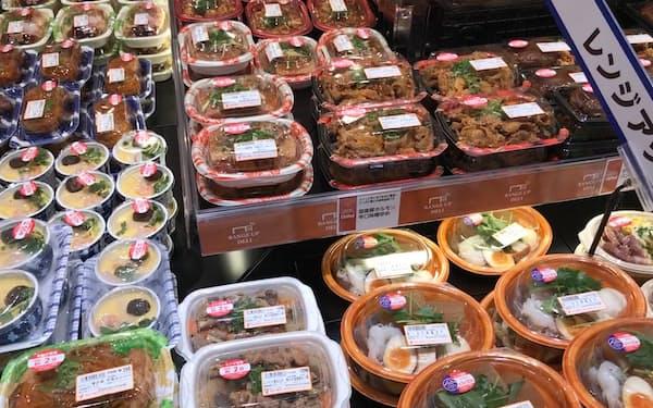 総菜などが好調で食料品の売り上げが伸びた