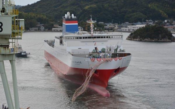 宮崎カーフェリーの新船は来年4月に就航する