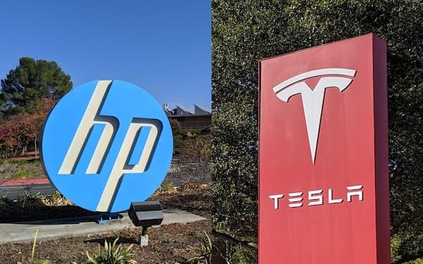 HPとテスラはともに米カリフォルニア州パロアルト市に本社を置く
