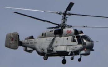 ロシア海軍の艦艇から発着艦したヘリコプター(提供・統合幕僚監部)
