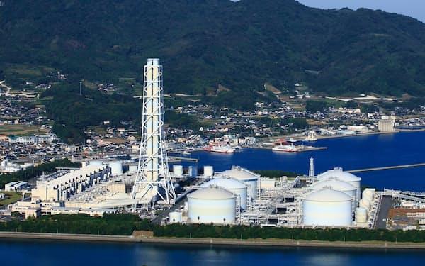 中国電力の柳井発電所(山口県柳井市)