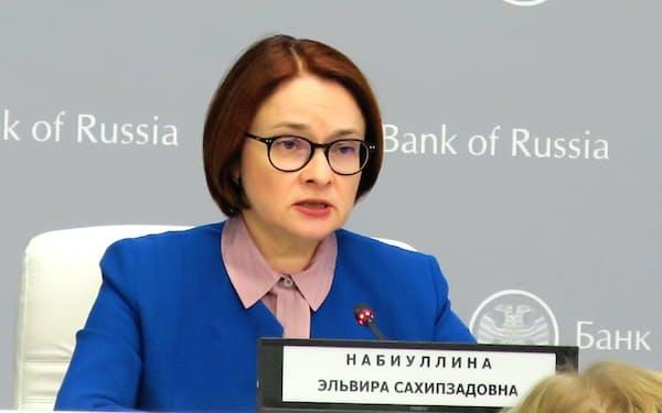 6会合連続の利上げを決定したロシア中央銀行のナビウリナ総裁