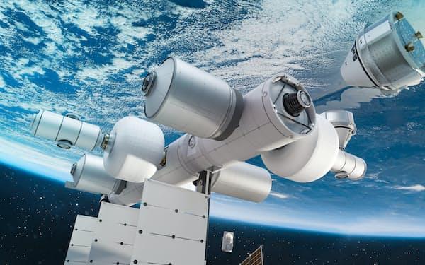 ブルーオリジンなどが公開した宇宙ステーションのイメージ
