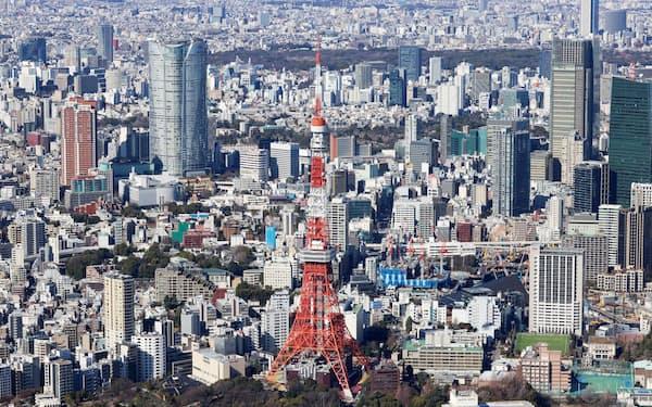 東京から隣県への人口流出が続いている