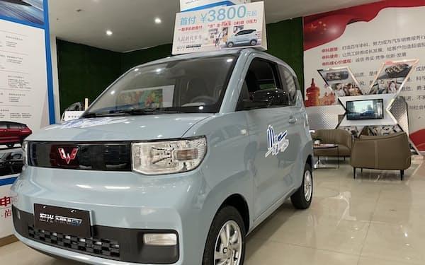 日本電産は小型EVの需要が高まるとみる(上汽通用五菱汽車の「宏光MINI EV」)