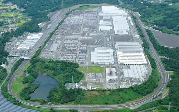 半導体不足などの打撃が顕著に出てきている(静岡県牧之原市の相良工場)