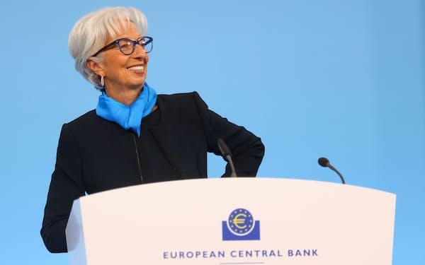 ECBのラガルド総裁(28日=ロイター)