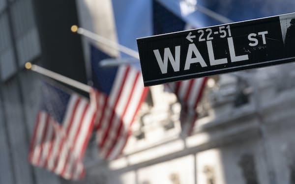米ニューヨークのウォール街=AP