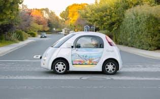 グーグルが試験中の自動運転車(C)Google